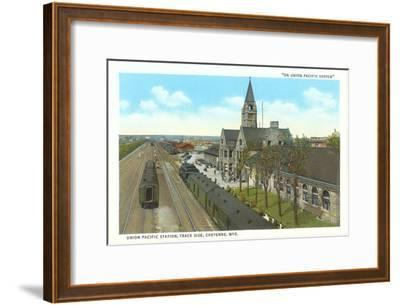 Train Station, Cheyenne, Wyoming--Framed Art Print