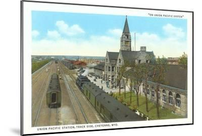 Train Station, Cheyenne, Wyoming--Mounted Art Print
