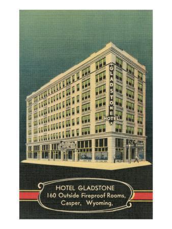 Gladstone Hotel, Casper, Wyoming--Framed Art Print