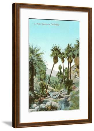 A Palm Canyon in California--Framed Art Print