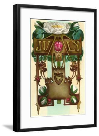 Art Nouveau July, Leo--Framed Art Print