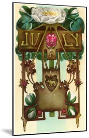 Art Nouveau July, Leo--Mounted Art Print