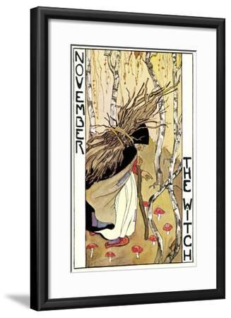 November, the Witch--Framed Art Print