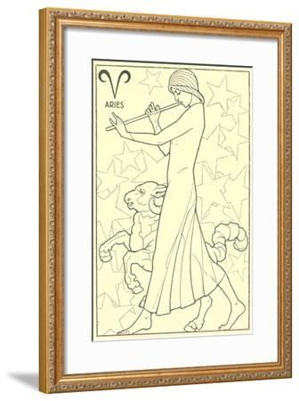 Aries, the Ram--Framed Art Print