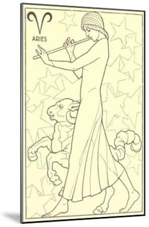 Aries, the Ram--Mounted Art Print