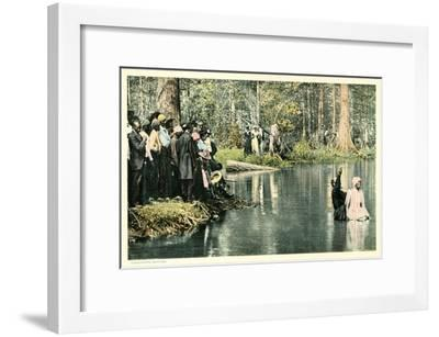 Baptism in the Lake--Framed Art Print