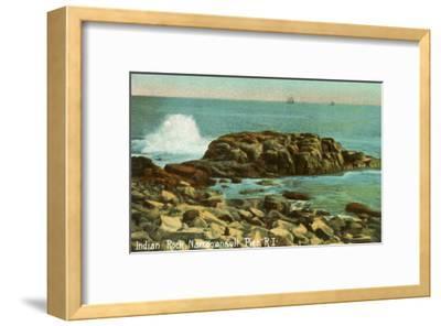 Indian Rock, Narragansett Pier, Rhode Island--Framed Art Print