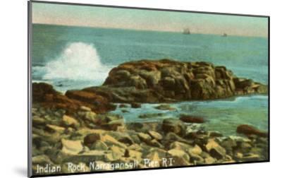 Indian Rock, Narragansett Pier, Rhode Island--Mounted Art Print
