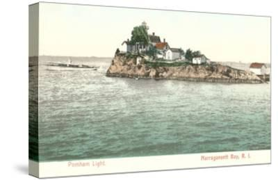 Pomham Lighthouse, Narragansett Bay, Rhode Island--Stretched Canvas Print
