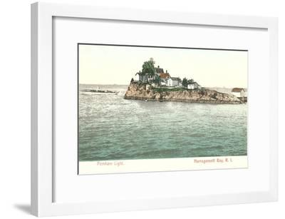 Pomham Lighthouse, Narragansett Bay, Rhode Island--Framed Art Print