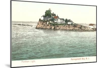 Pomham Lighthouse, Narragansett Bay, Rhode Island--Mounted Art Print