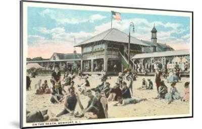 Beach at Newport, Rhode Island--Mounted Art Print