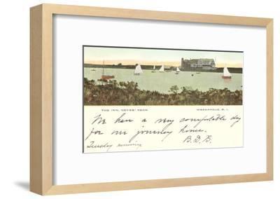 The Inn, Noyes' Neck, Weekapaug, Rhode Island--Framed Art Print