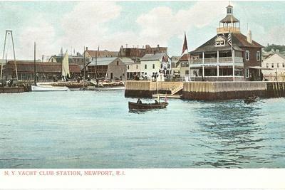 Yacht Club, Newport, Rhode Island--Stretched Canvas Print