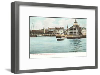Yacht Club, Newport, Rhode Island--Framed Art Print