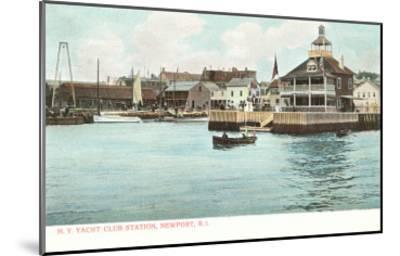 Yacht Club, Newport, Rhode Island--Mounted Art Print