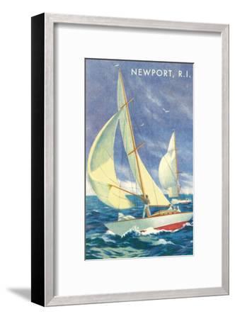 Sailing Race, Newport, Rhode Island--Framed Premium Giclee Print