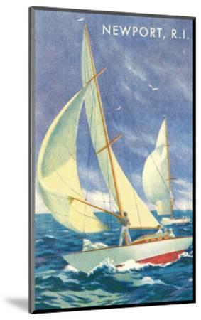 Sailing Race, Newport, Rhode Island--Mounted Premium Giclee Print