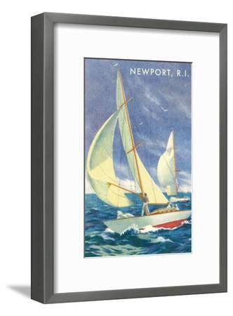 Sailing Race, Newport, Rhode Island--Framed Art Print