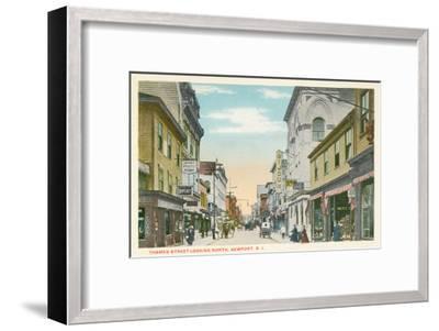 Thames Street, Newport, Rhode Island--Framed Art Print