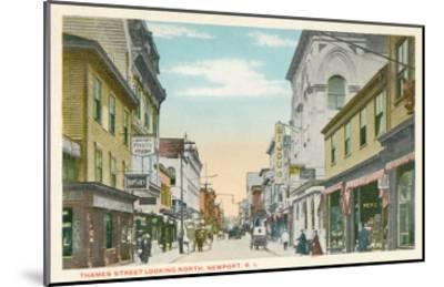Thames Street, Newport, Rhode Island--Mounted Art Print