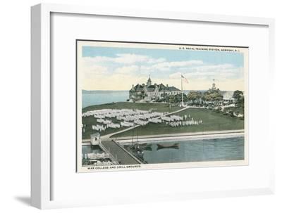 Naval Training Station, Newport, Rhode Island--Framed Art Print