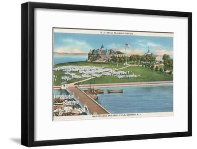 War College, Newport, Rhode Island--Framed Art Print