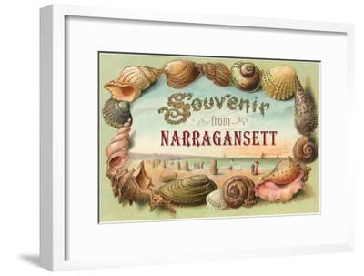 Souvenir from Narragansett, Rhode Island--Framed Art Print