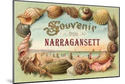 Souvenir from Narragansett, Rhode Island--Mounted Art Print