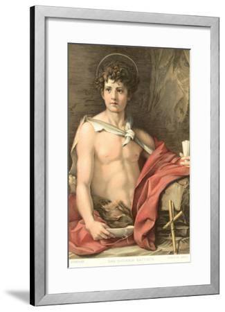 Young John the Baptist--Framed Art Print