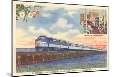 Hummingbird Train Crossing Biloxi Bay--Mounted Art Print