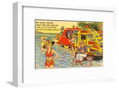 Life in the Trailer Park, Cartoon--Framed Art Print
