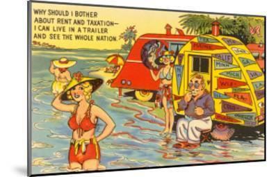 Life in the Trailer Park, Cartoon--Mounted Art Print