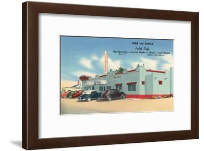 Pete's Cafe, Gallup, New Mexico, Route 66--Framed Art Print
