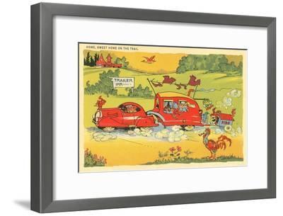 Home on the Trail, Trailer Humor--Framed Art Print