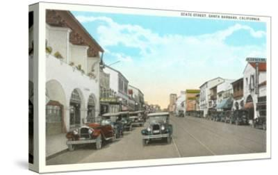 State Street, Santa Barbara, California--Stretched Canvas Print