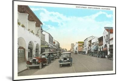 State Street, Santa Barbara, California--Mounted Art Print