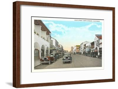 State Street, Santa Barbara, California--Framed Art Print