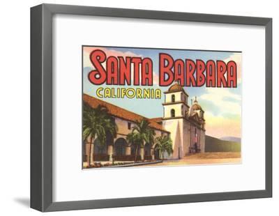 Mission, Santa Barbara, California--Framed Art Print
