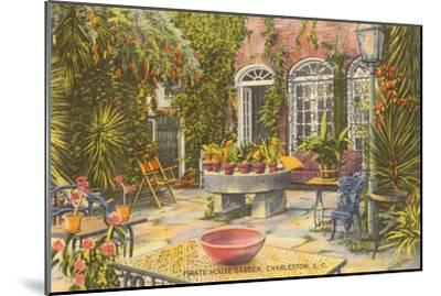 Pirate House Garden, Charleston, South Carolina--Mounted Art Print