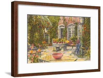 Pirate House Garden, Charleston, South Carolina--Framed Art Print