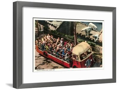 Polar Bears at Zoo, San Diego, California--Framed Art Print