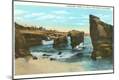 Cathedral Rocks, La Jolla, California--Mounted Art Print