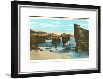 Cathedral Rocks, La Jolla, California--Framed Art Print