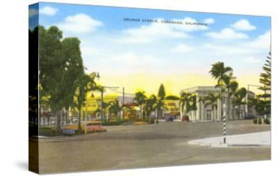 Orange Avenue, Coronado, California--Stretched Canvas Print