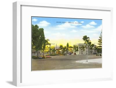 Orange Avenue, Coronado, California--Framed Art Print