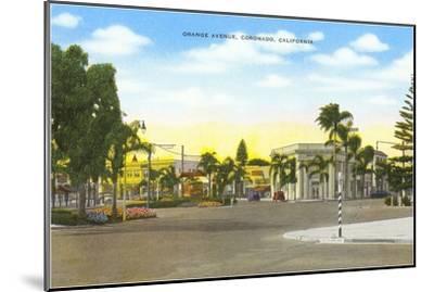 Orange Avenue, Coronado, California--Mounted Art Print