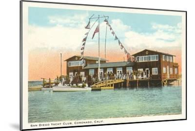 Yacht Club, Coronado, San Diego, California--Mounted Art Print