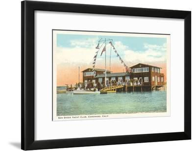 Yacht Club, Coronado, San Diego, California--Framed Art Print
