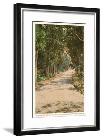 Road in Del Mar, California--Framed Art Print